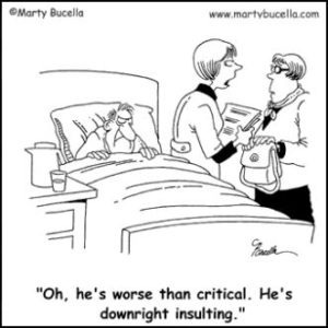 Critical Condition Funny Cartoon