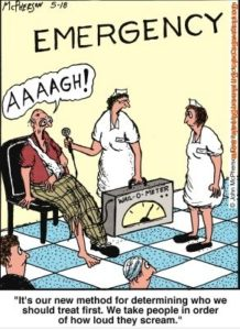 Emergency Room Funny Nurse Cartoon