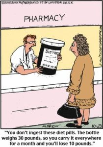 Funny diet pills cartoon