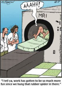 Funny cartoon of MRI