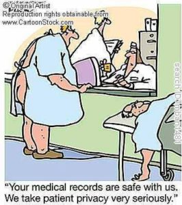 Funny privacy matters nurse cartoon