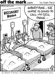 Funny nurse cartoon missing phone