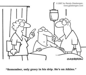 Only gravy in the drip -funny nurse cartoon