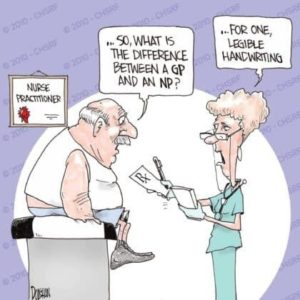 Nurses have better handwriting funny cartoon