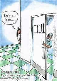 Peek a Book ICU Funny Cartoon