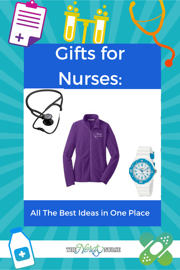 Gifts for Nurses: All The Best Ideas in One Place. Looking for a nurse gift? We have all the best ideas for gifts for nurses in one post. #thenerdynurse #nurse #nurses #giftsfornurses #gifts #nursinggifts
