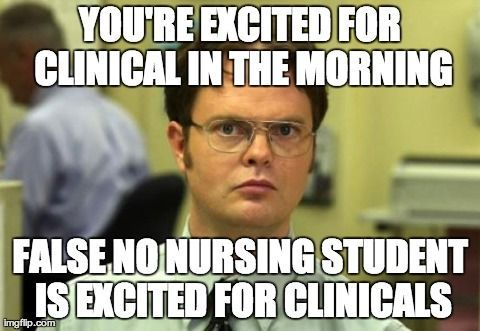 Funny false clinical nursing meme
