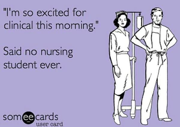 No nurse excited for clinicals
