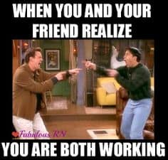 working with friends funny meme