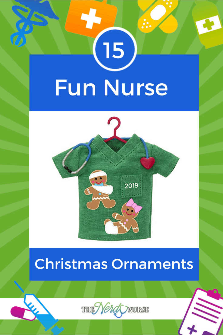 15 Fun Nurse Christmas Ornaments. Looking for a nurse Christmas ornament? I found some of the best out there for you. #thenerdynurse #nurse #nurses #nurseChristmas #giftsfornurses #Christmas #nurselife #nurselifestyle