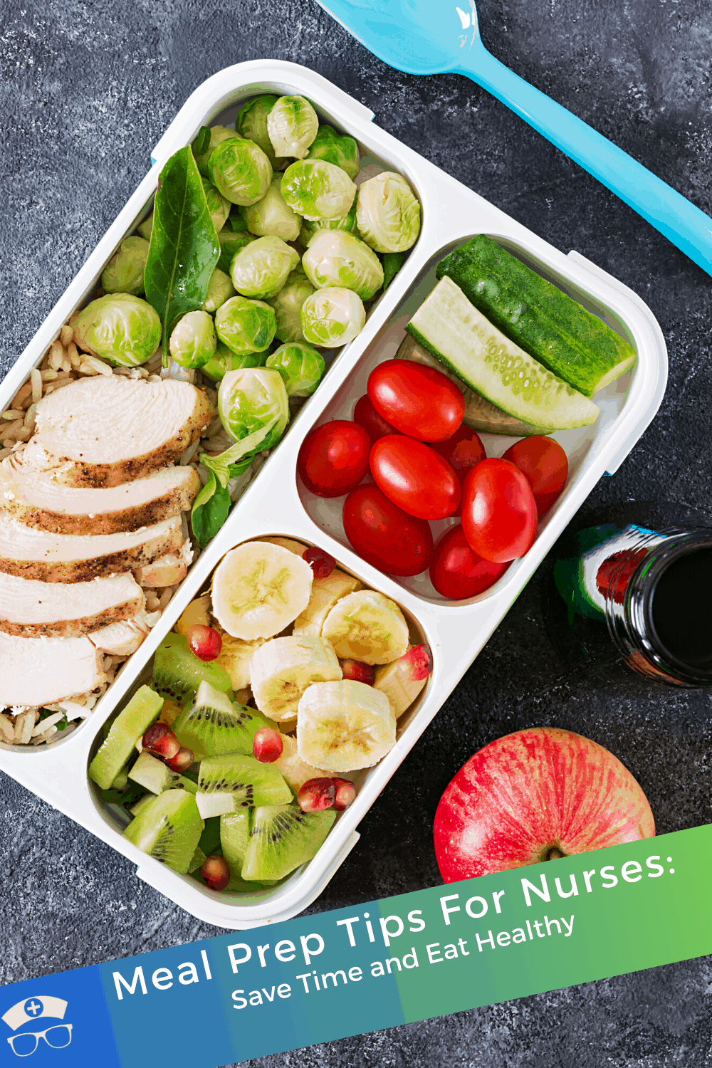 Meal Prep Tips For Nurses: Save Time and Eat Healthy. When you are short on time but still want to eat healthy, meal prep is the answer. These meal prep tips for busy people - like nurses - are amazing! #thenerdynurse #nurse #nurses #mealprep #nursemeals #healthy