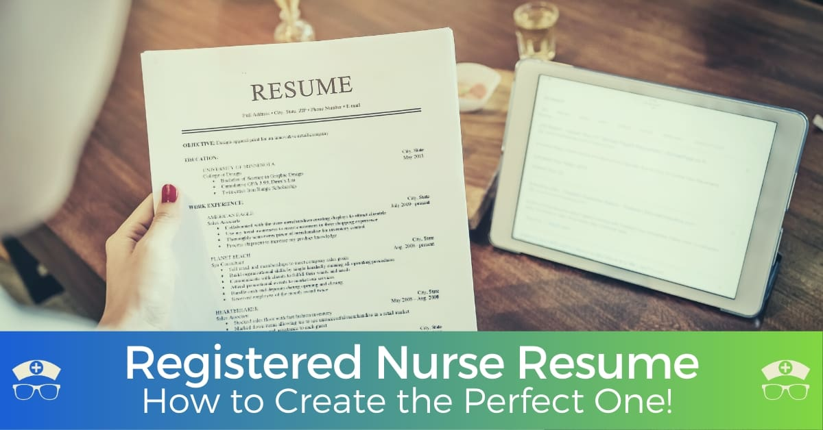 How to Create the Perfect Registered Nurse Resume -fb
