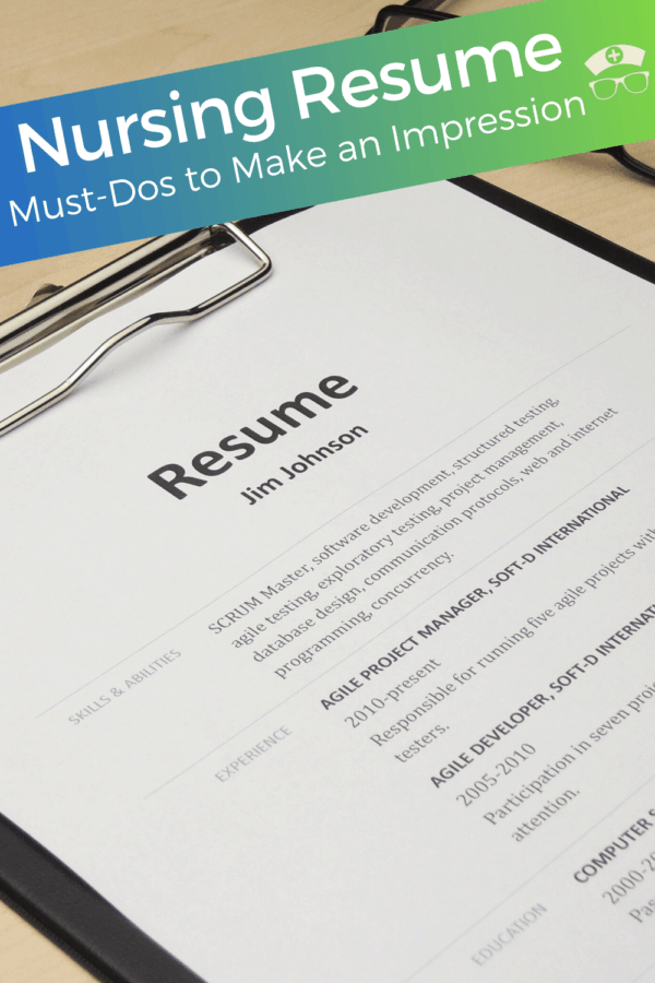 Nursing Resume -  Must-Dos to Make an Impression. Let's brush up that nursing resume to land you the perfect job. #thenerdynurse #nurse #nurses #resume #job