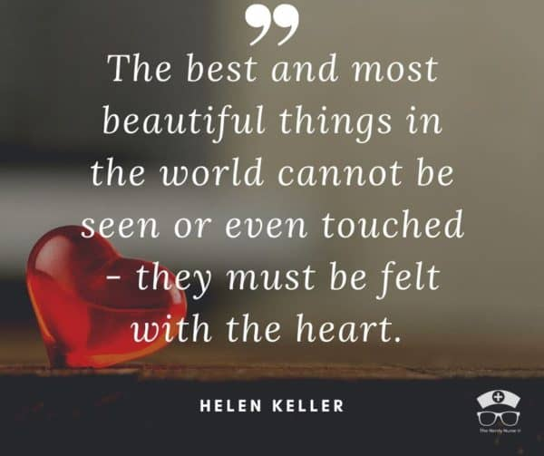 A morning quote by Helen Keller