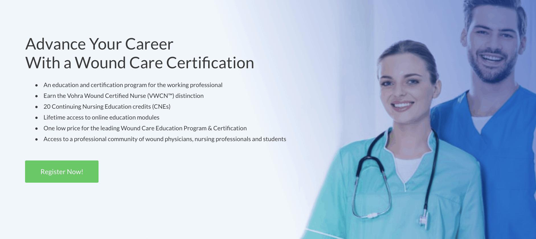Vohra Wound Care Nurse Certification - become a wound care nurse