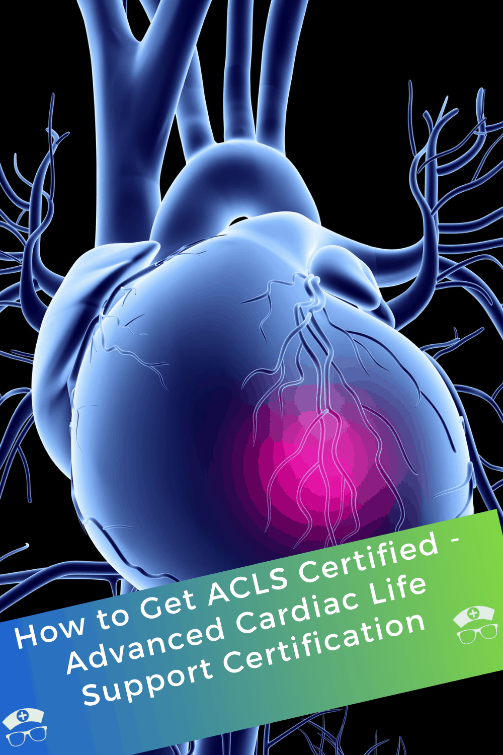 How to Get ACLS Certified - Advanced Cardiac Life Support Certification. This is what you need to know about how to get ACLS certified. Find the best advanced cardiac life support class near you. #thenerdynurse #nurse #nurses #ACLS #cardiac #lifesupport #certifications #cardiaclifesupport
