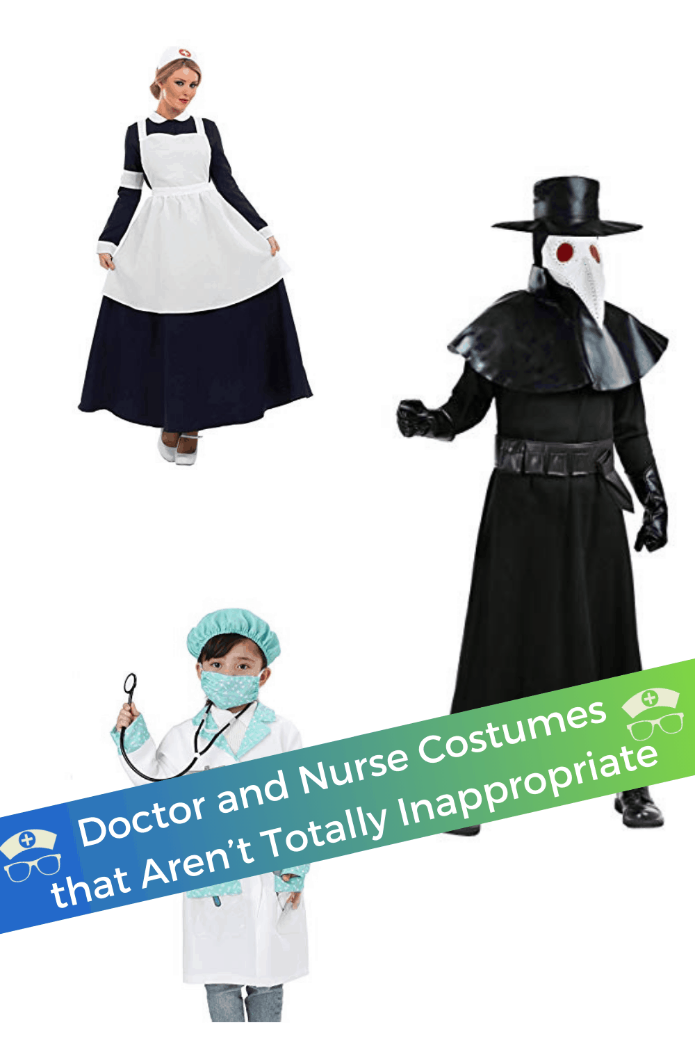 Doctor and Nurse Costumes that Aren't Totally Inappropriate. These doctor and nurse costumes are fun, creative, modest, and appropriate. Browse ideas for both adults and children. #thenerdynurse #nurse #nurses #doctor #Halloween #costume #nursecostume #doctorcostume