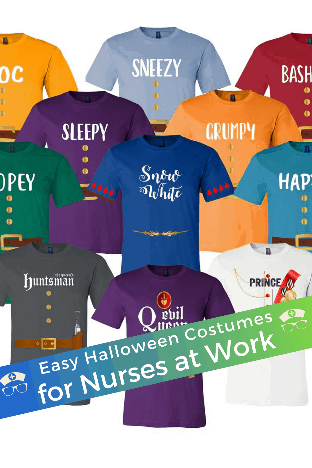 Easy Halloween Costumes for Nurses at Work. Dress up for Halloween at work as a nurse. These easy Halloween costumes for nurses are work-safe, not scary, and really fun! #thenerdynurse #nurse #nurses #halloween #nursecostume #scrubcostume