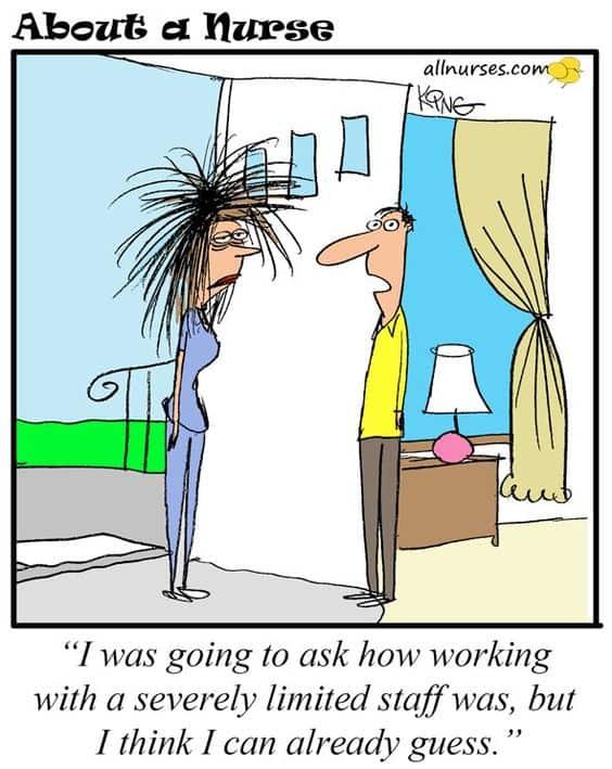 Short staffed funny cartoon