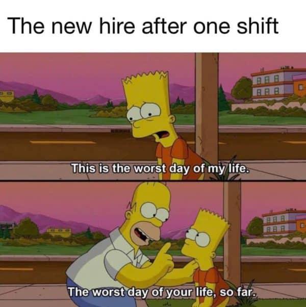 New hire Simpsons meme